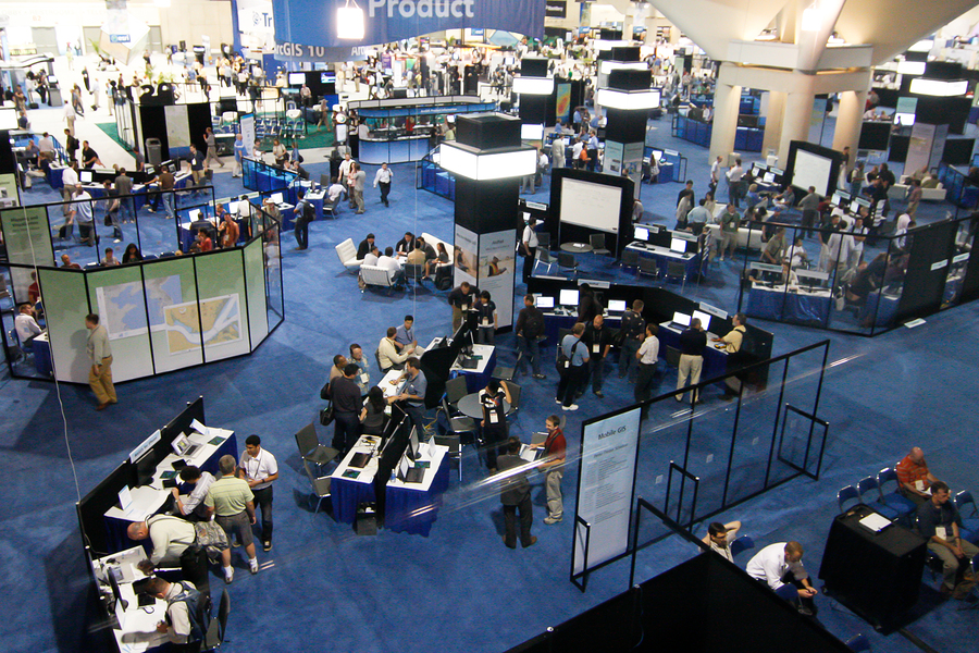 SAN DIEGO - JULY 14: ESRI (Environmental Systems Research Institute) user convention trade floor. July 14 2010 in San Diego California