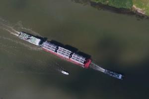 Oversized Cargo Transportation Along The River, A Distillation C